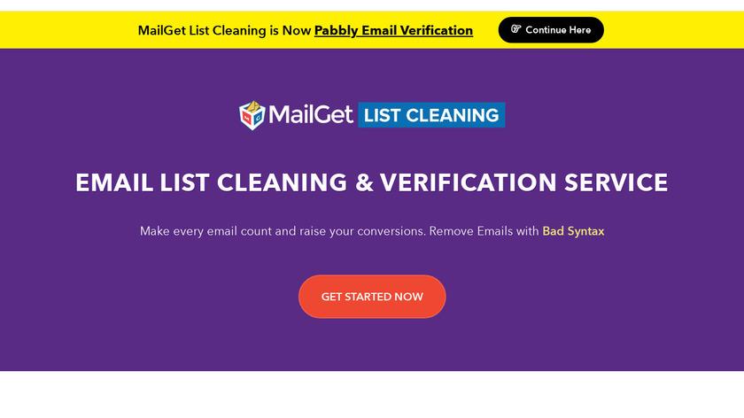 MailGet Enricher Landing Page