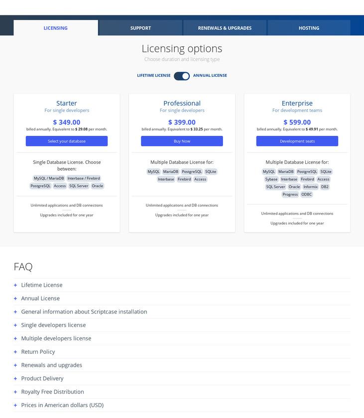 Scriptcase Pricing