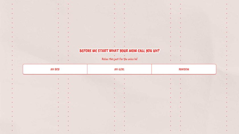 Huat Together Landing Page