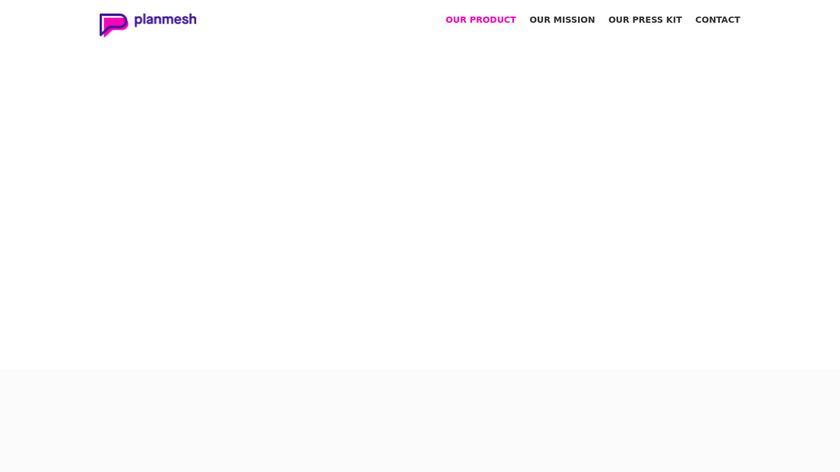 Planmesh Landing Page