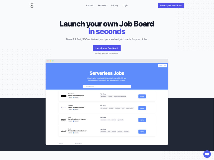 GetABoard.io Landing Page