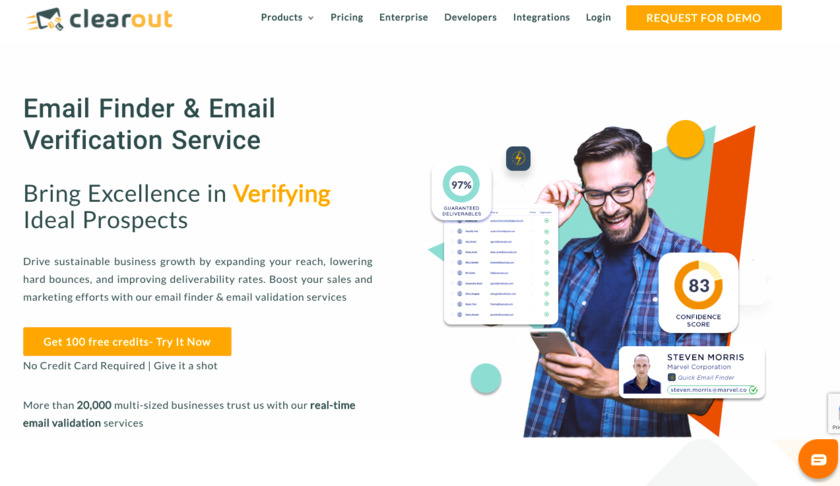 clearout.io Landing Page