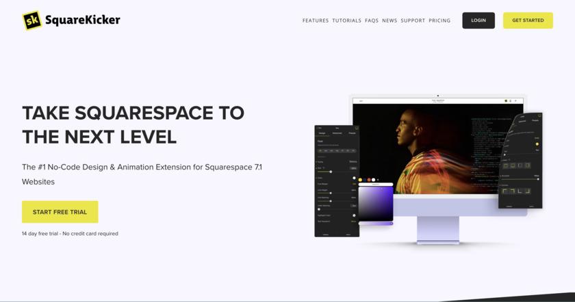 SquareKicker: Squarespace Extension Landing Page