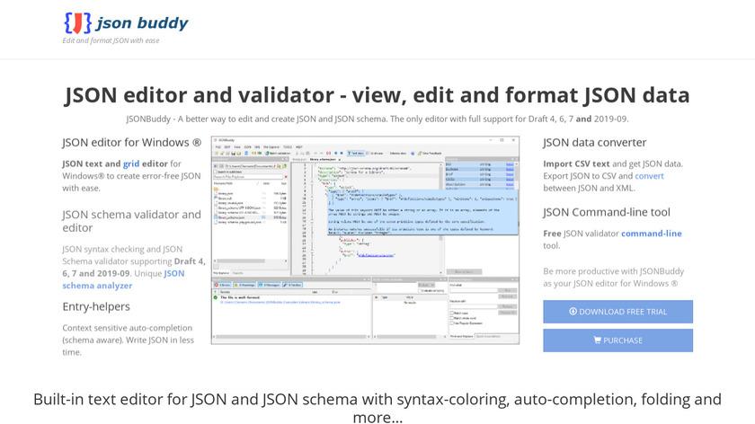 JSON Buddy Landing Page
