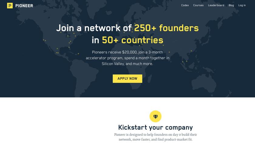 Pioneer.app Landing Page