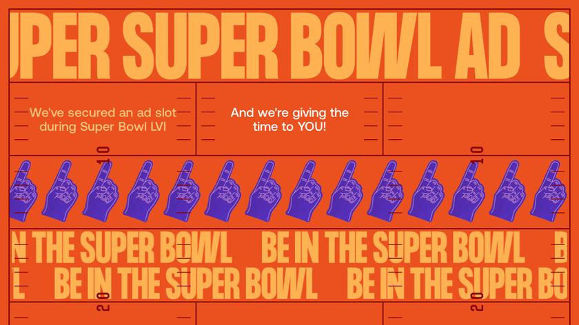 Super Super Bowl Ad Landing Page