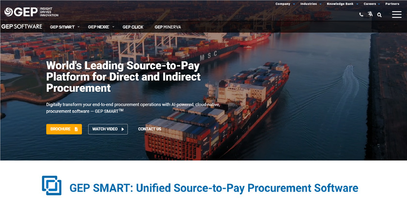 SMART by GEP Landing Page