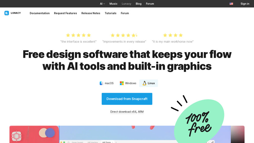 Icons8 Lunacy Landing Page
