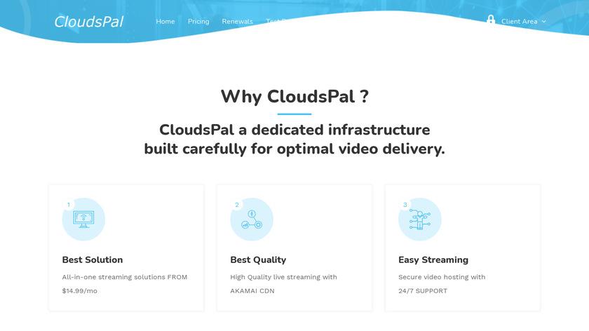 CloudsPal Landing Page