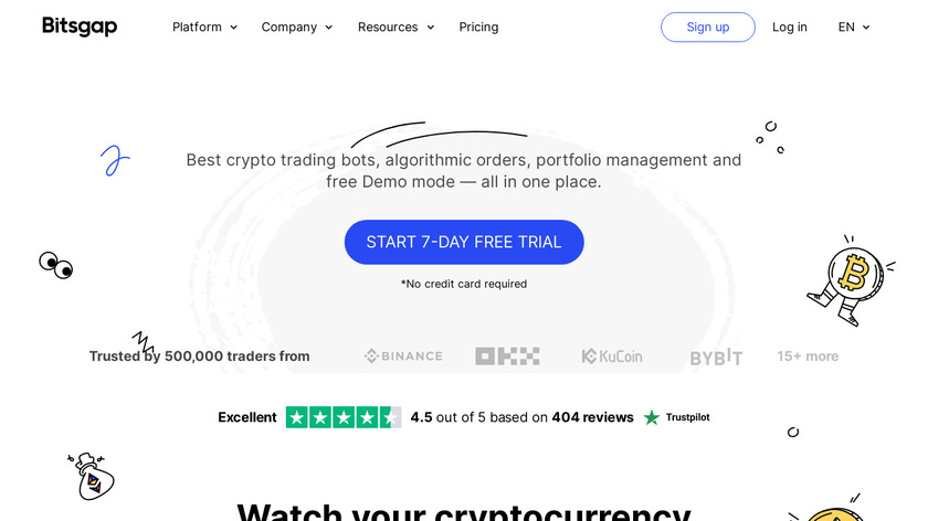 Bitsgap Landing Page