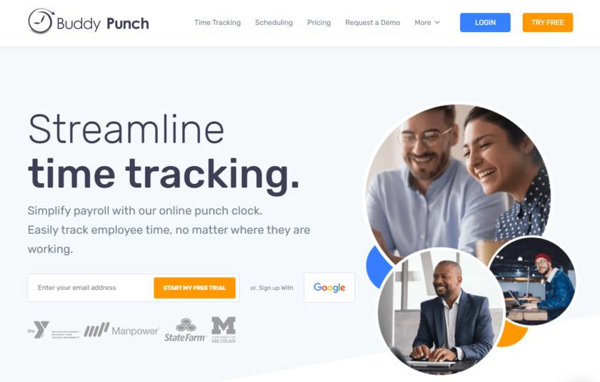 Buddy Punch Landing Page