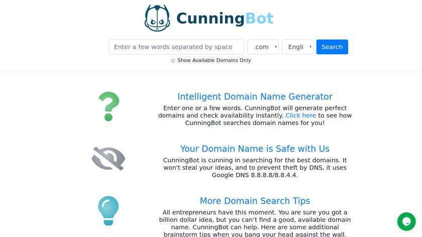 CunningBot Landing Page