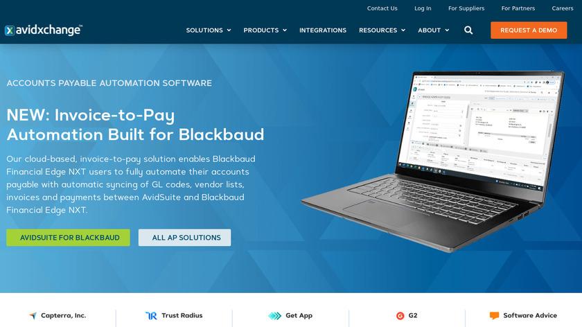 AvidXchange Landing Page