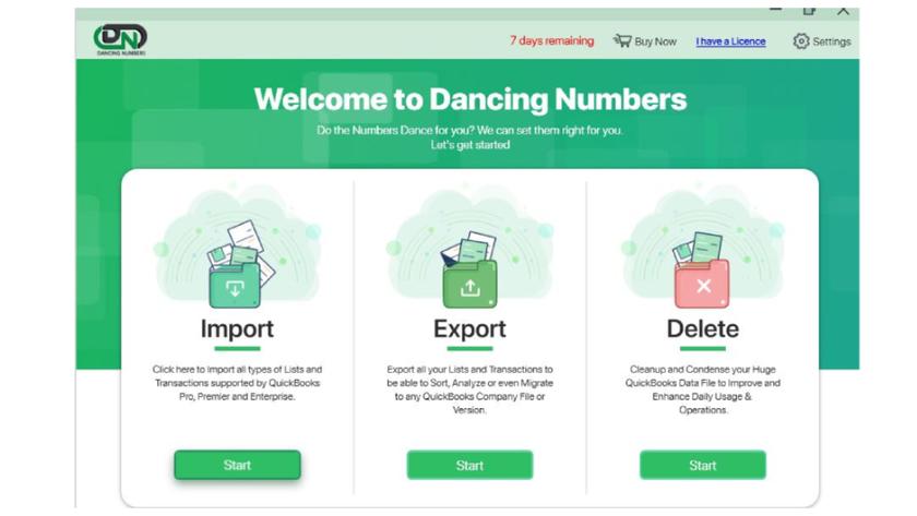 Dancing Numbers Landing Page