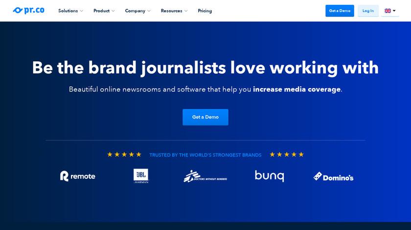 PR.co Landing Page