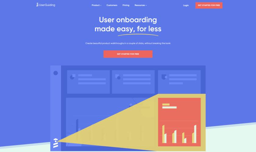 UserGuiding Landing Page