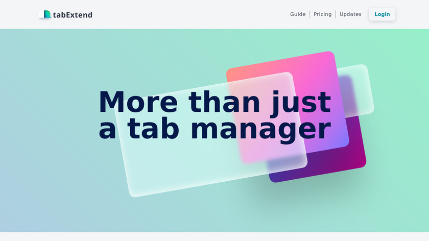 tabExtend Landing Page