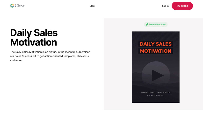 Daily Sales Motivation Landing Page