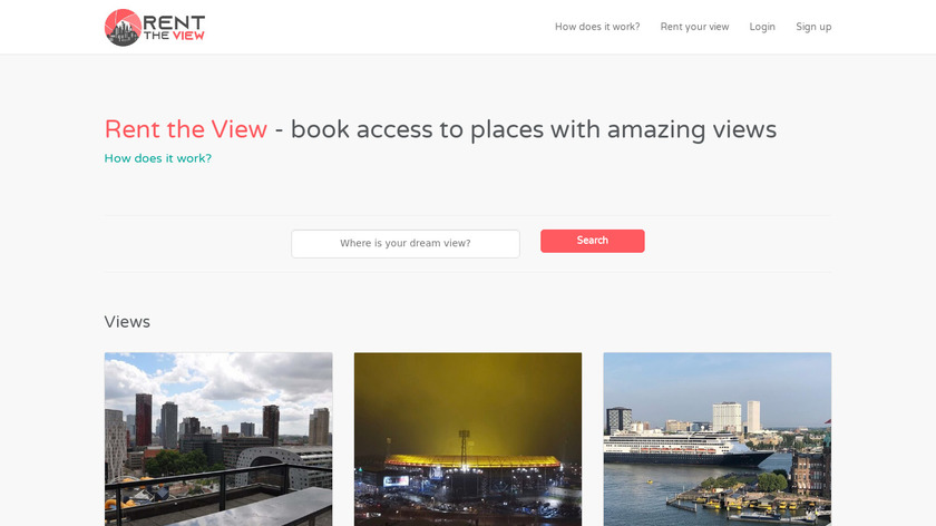RenTheView Landing Page