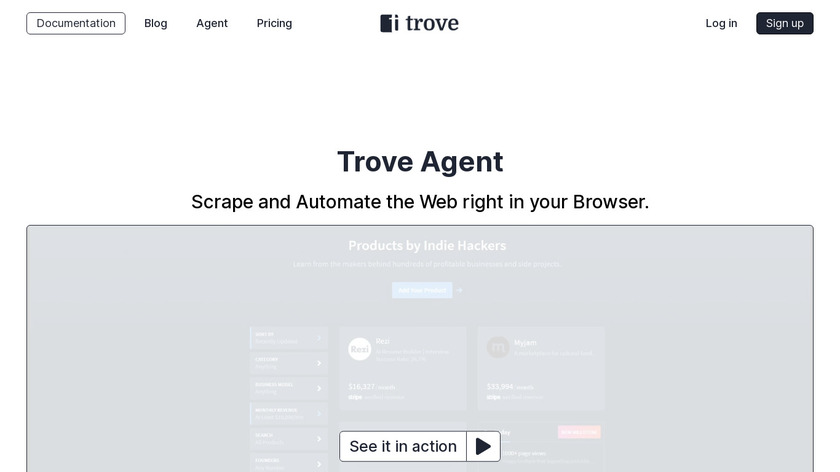 Trove Agent Landing Page