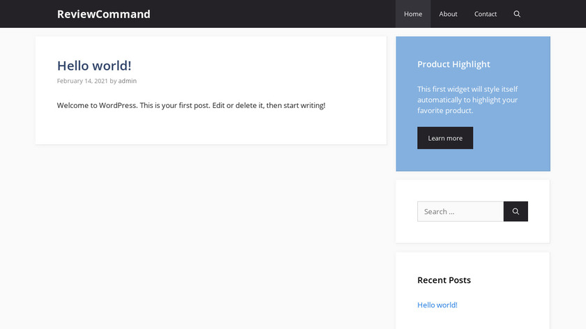 Review Command Landing Page