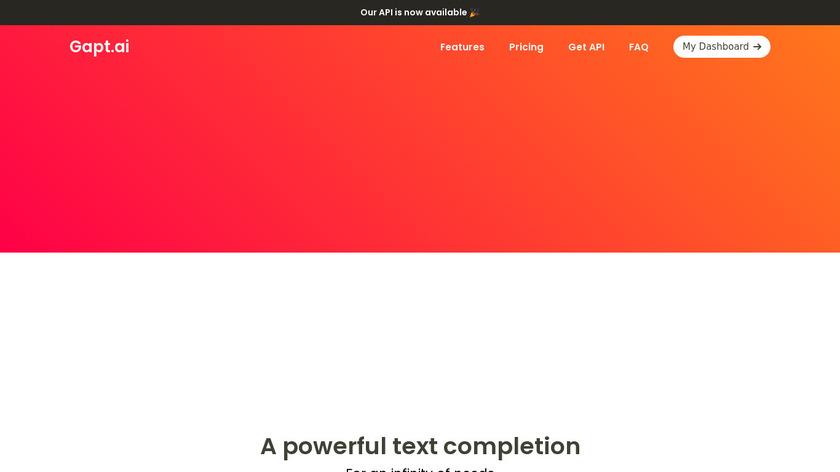 Gapt.ai Landing Page