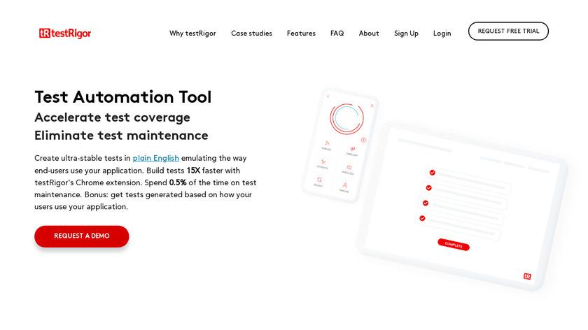 testRigor Landing Page