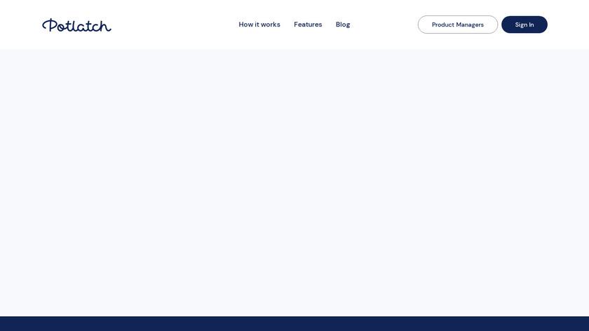 Potlatch Landing Page