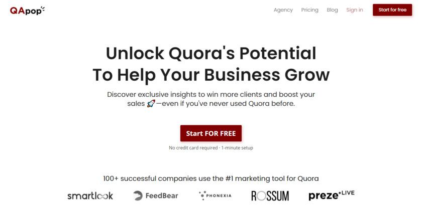 QApop Landing Page