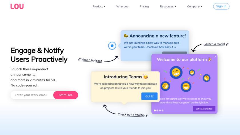 LOU Landing Page