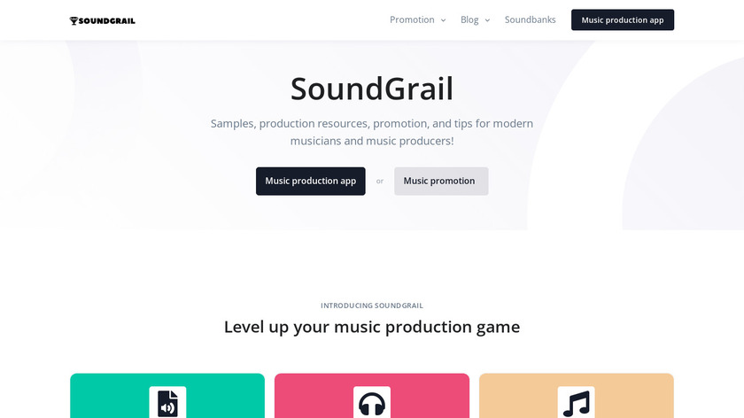 SoundGrail Landing Page