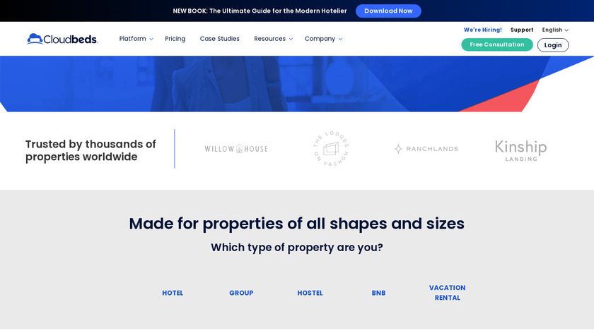 Cloudbeds Landing Page
