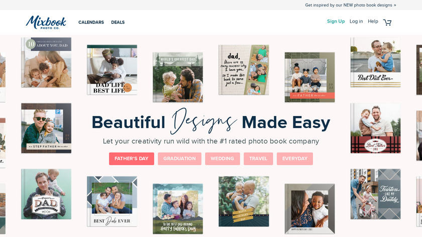 Mixbook Landing Page
