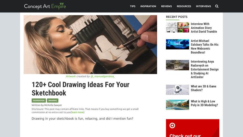 Cool Art Drawing Ideas Landing Page