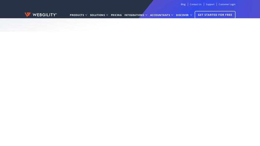 Webgility Landing Page
