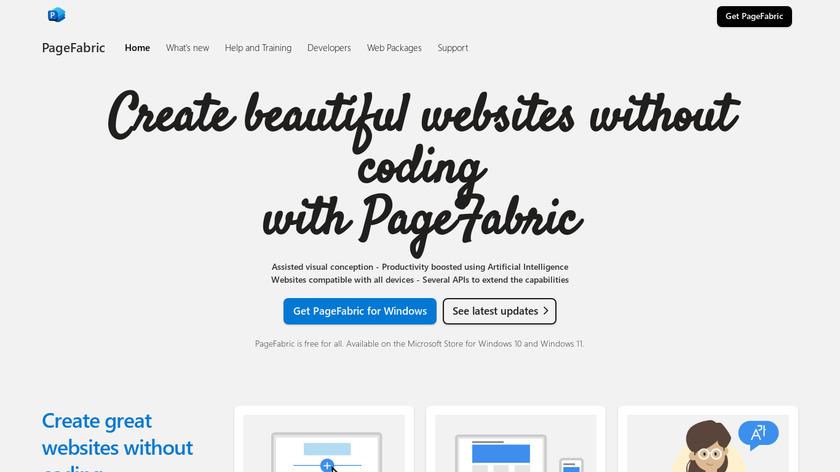 PageFabric Landing Page