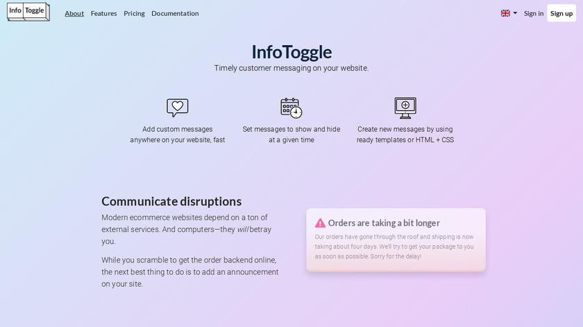 InfoToggle Landing Page