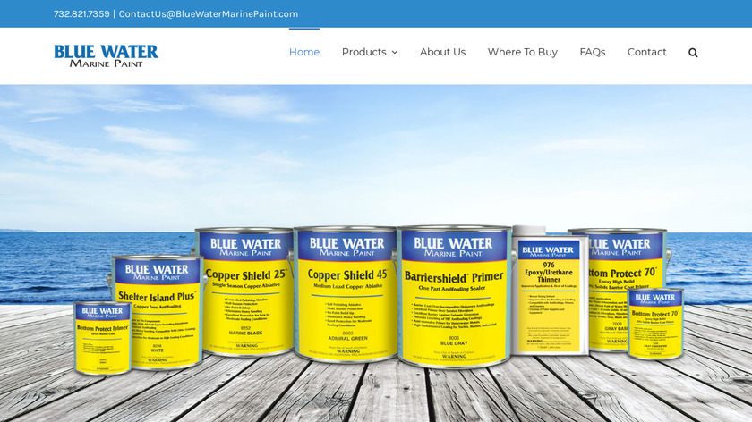 Water Paint Landing Page