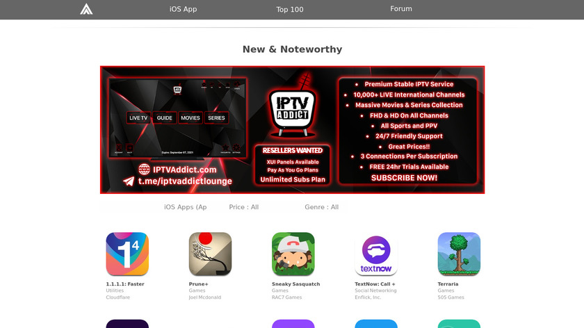 AppAddict Landing Page