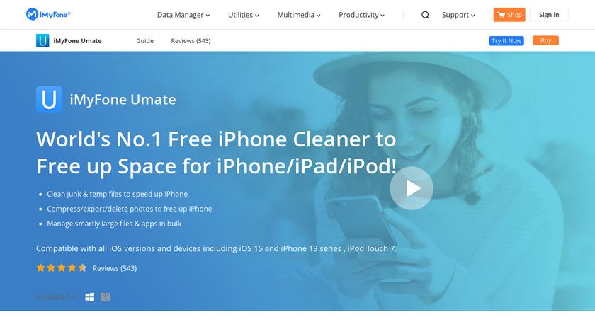 iMyfone Umate Landing Page