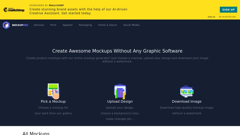 MockupBro Landing Page