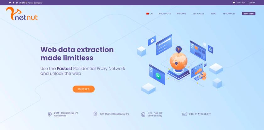 NetNut.io Landing Page