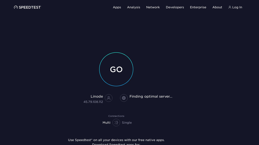 Speedtest.net Landing Page
