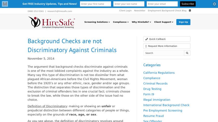 HireSafe Landing Page
