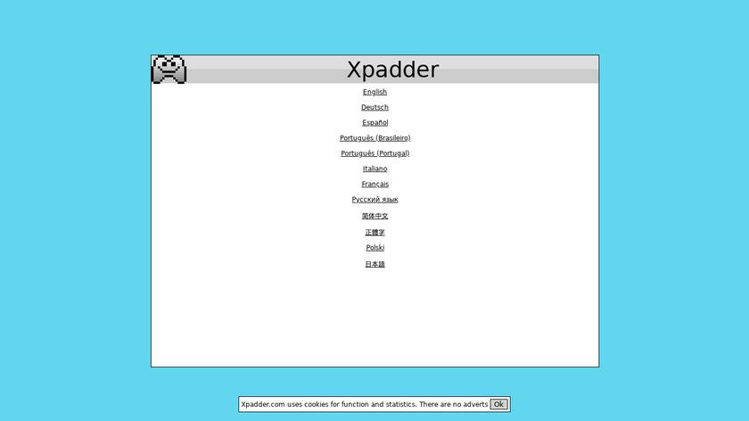 Xpadder Landing Page