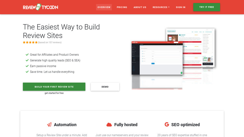 ReviewTycoon Landing Page