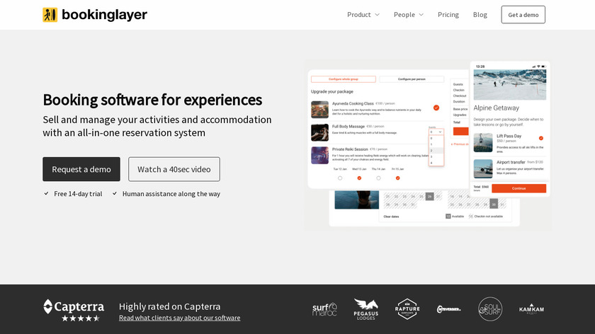 Bookinglayer Landing Page
