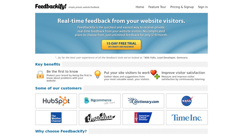 Feedbackify Landing Page