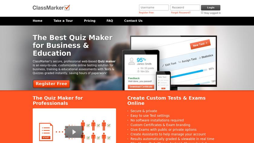 ClassMarker Landing Page