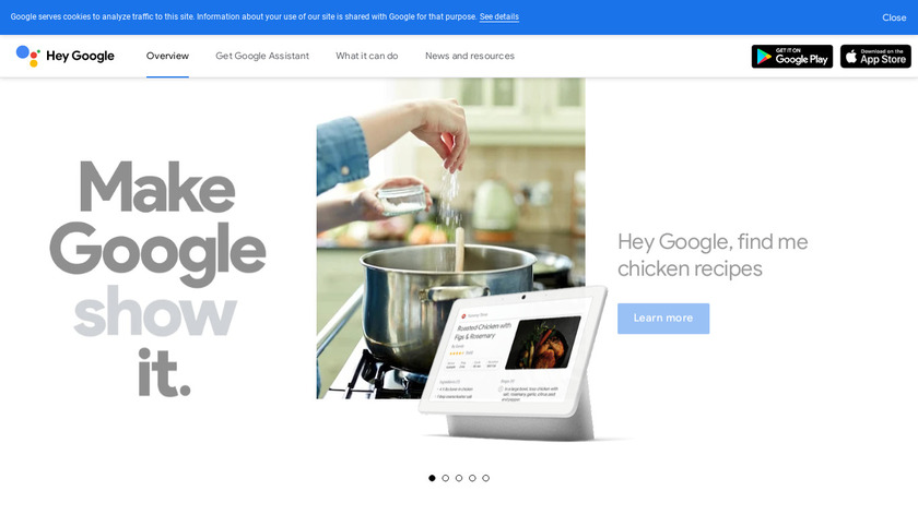 Google Assistant Landing Page